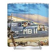 Marine Mitchell B-25 Pbj  Shower Curtain