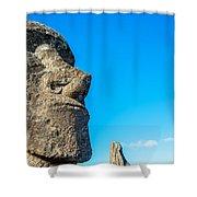 Moai Closeup Shower Curtain