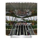 Modern Subway Station Design In Taiwan Shower Curtain