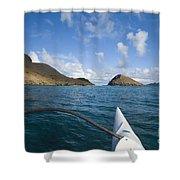 Mokulua Islands Shower Curtain by Dana Edmunds - Printscapes