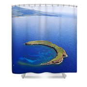 Molokini Aerial Shower Curtain