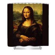 Mona Lisa Portrait Shower Curtain