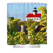 Monarch At East Point Light Shower Curtain