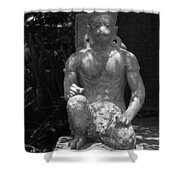 Monkey In Black And White Shower Curtain