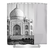 Monochrome Taj Mahal - Square Shower Curtain