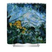 Mont Sainte-victoire And Chateau Noir Shower Curtain