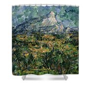 Mont Sainte Victoire Shower Curtain
