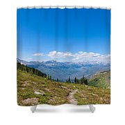 Montana-glacier National Park-highline Trail Shower Curtain