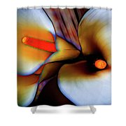 Moody Calla Lilies Shower Curtain