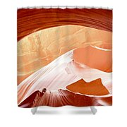 Moon Over The Mountains Shower Curtain