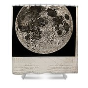 Moon Surface By John Russell Shower Curtain