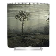 Moonlight On Mount Lafayette Shower Curtain