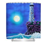 Moonlight Vigil Shower Curtain