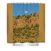 Moonrise Rio Grande Gorge Pilar New Mexico Shower Curtain