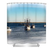 Moored In Chatham Harbor Shower Curtain