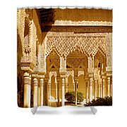 Moorish Architecture In The Nasrid Palaces At The Alhambra Granada Shower Curtain