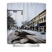 Moresville North Carolina Streets Covered In Snow Shower Curtain