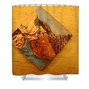 Morning - Tile Shower Curtain