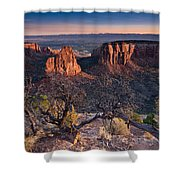 Morning At Colorado National Monument Shower Curtain