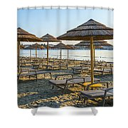 Morning Beach Shower Curtain