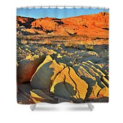 Morning Comes To Valley Of Fire Shower Curtain