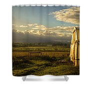 Morning, Devonport. Shower Curtain