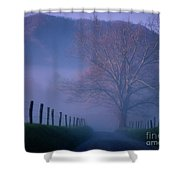 Morning Fog, #1, Smoky Mountains, Tennessee Shower Curtain