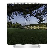 Morning In The Park Shower Curtain