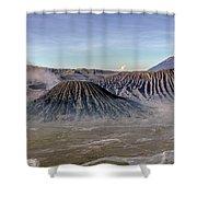morning light Mount Bromo - Java Shower Curtain