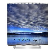 Morning Light On Okanagan Lake Shower Curtain