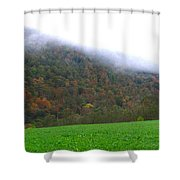 Morning Mountain Mist Shower Curtain