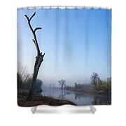 Morning On Red River Shower Curtain