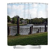 Morning On The Eau Gallie River Shower Curtain