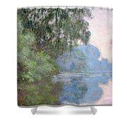 Morning On The Seine Near Giverny 1897 Shower Curtain