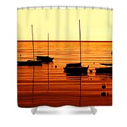 Morning Over Rockport Shower Curtain