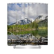 Morning Reflection On String Lake Shower Curtain
