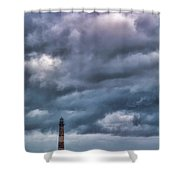 Morris Island Lighthouse Shower Curtain