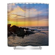 Morris Island Sunrise Shower Curtain