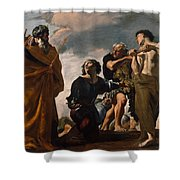 Moses And The Messengers From Canaan Shower Curtain