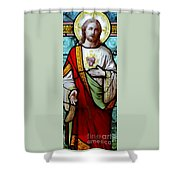 Most Sacred Heart Of Jesus Shower Curtain