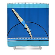 Motel Birmingham Sign 2 Shower Curtain