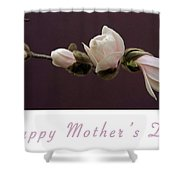 Mothers Day Card Shower Curtain