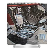 Motorcycle Close Up 1 Shower Curtain