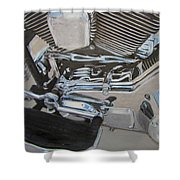 Motorcycle Close Up 2 Shower Curtain