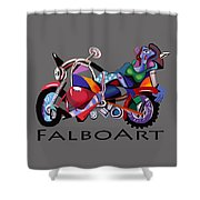 Motorcycle Mama Shower Curtain
