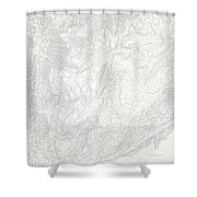 Mount Kosciuszko Art Print Contour Map Of Mount Kosciuszko In Au Shower Curtain