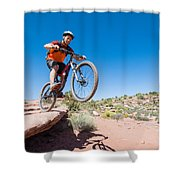 Mountain Biking The Porcupine Rim Trail Near Moab Shower Curtain