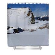 Mountain History Shower Curtain