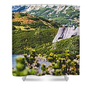Mountain Lake In 5 Lakes Valley In Tatra Mountains, Poland. Shower Curtain