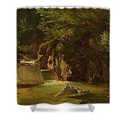 Mountain Stream Shower Curtain